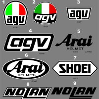 Sticker/Stiker Body Helm Custom AGV,ARAI,SHOEI,KBC,NOLAN,HJC,SUOMY,LS2