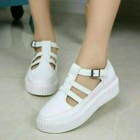 Sepatu Sandal Wanita / Flat Shoes Lolly Putih