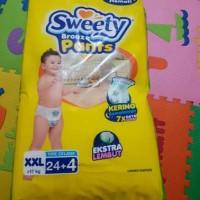 popok diaper pampers celana xxl sweety bronze pants 24 + 4
