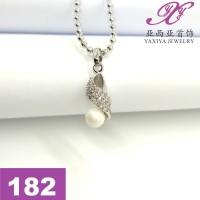 Liontin Emas putih Permata Perhiasan imitasi 18k Yaxiya Jewelry 182
