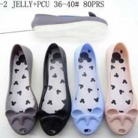 harga Jelly Shoes Premium Big Mickey - Sepatu Karet Import Murah - Flatshoes Tokopedia.com