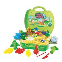 Jual Mainan Lilin/Plastisin/Fun Doh/Fundoh/Play Doh/Dough Dino World Koper Murah