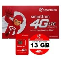 Jual PERDANA SMARTFREN 13GB ALL DEVICE BUKAN 65GB / 30GB Murah