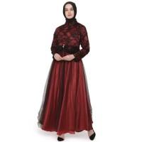 Baju Dress Gamis Muslim Untuk Pesta Brukat Elegan Terbaru