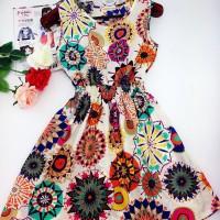 W30/2 Summer Dress Beach Chiffon Import