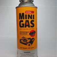 Jual Mini Gas tabung isi 250Gram Nett utk kompor portable (not hi cook) Murah