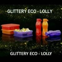 Jual Tupperware Glittery Eco - Lolly Set ( Kotak Makan + Botol Minum) Murah