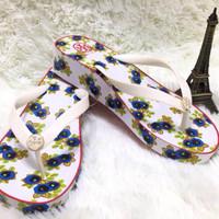 Tory Burch Flip Flop Sandal Jepit Wedges Original Ori