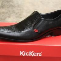 sepatu pantofel pria kickers kulit asli / sepatu kerja kantoran INV3
