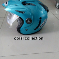 helm ink t1 solid ice blue doble visor