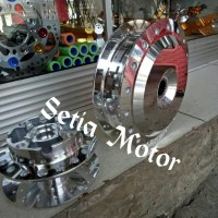 Tromol Crome Depan Belakang Mio, Mio Soul, Mio Sporty Model VND