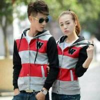 harga Jaket Couple W Combi Merah / Baju Pasangan / Kaos / Sweater / Hoodie Tokopedia.com