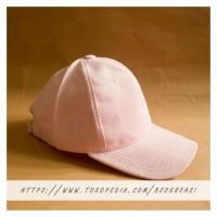 Jual Topi Baseball Cap Baby Pink Muda Dewasa Polos Pria Wanita Casual Sport Murah