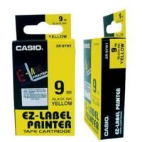 LAbel Casio Tape Cartridge 9mm Black Ink Yellow