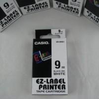 Label Casio Tape Cartridge 9mm Black Ink White