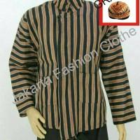 Baju Surjan Dewasa Jumbo XXL Gratis Blangkon / Lurik / Batik Adat Jawa