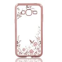 Casing Silicon Soft Case Samsung J5 2015/J2 Prime Flower Bling Diamon