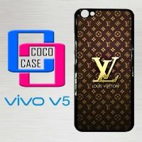 Casing Hardcase HP Vivo V5 Louis Vuitton Gold X4448