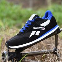 Sepatu [News] Reebok Sport Classic Grade Ori / Hitam Biru 02 / casual