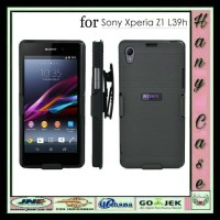 CASE SONY XPERIA Z1 HARD CASING ARMOR FUTURE WITH BELTCLIP COVERS