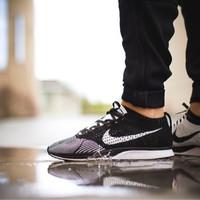 Jual Nike Flyknit Racer Black And White Murah