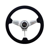 Setir - Stir - Steer Momo Racing Mobil - Silver (14 Inch - Cekung)