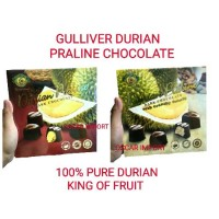 GULLIVER DURIAN PRALINE CHOCOLATE 150G COKLAT REAL KING OF FRUITS