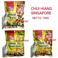 CHUI HIANG SINGAPORE MIXED NUTS 150G BROAD BEANS / PRAWN CRACKERS
