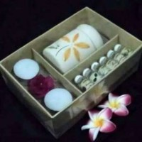 Paket 6 Essential Oil Plus Burner dan 2 Lilin Aroma Terapi