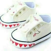 Sepatu prewalker bayi import Converse kets putih white klasik elegan