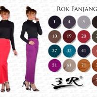 Rok Panjang 3R katun stretch Size STD (M,L)-XL-XXL-XXXL
