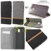 Jual Leather Case Lenovo P2 Sparkle Lining Murah