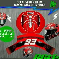 harga Decal Sticker Helm Fullface 93 Tokopedia.com