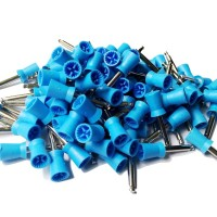 Prophy Cups Latch Style Flat 4 web Blue