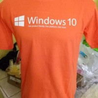 distro kaos t shirt tshirt grosir baju windows 10 orange