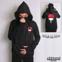 Jaket Sweater Hoodie Anime Naruto Ninja Clan Uchiha (Finger)