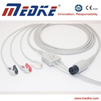 Mindray MEC 1000/2000, PM7000/8000/9000 One Piece ECG Cable 3Lead AHA