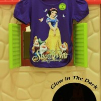 Kaos / Baju Anak Glow In The Dark Snow White Ungu