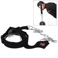 Head Harness Belt Neck Weight Lifting Steel Chain Strap Fitness Gym