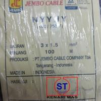 Kabel NYYHY / Kabel Serabut JEMBO 3x1,5mm / @50mtr