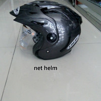 helm ink t1 solid gun metal double visor