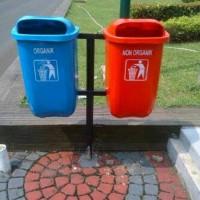 Jual Tempat sampah 2in1 opal, Vol_50L tiang tanam Murah