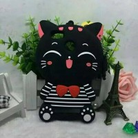 Xiaomi MI4C Silicon 3D Kartun Lucky Cat Stripes Softcase Hp Lucu
