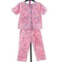 Setelan Piyama/Baju Tidur/Utk Anak 4-5 Thn/Pink Motif Batik/Cotton