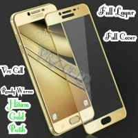 Tempered Glass Samsung Galaxy C9 Pro 2017 C9Pro Full Cover Full Layar