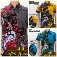 Jual Model Baju Kemeja Batik Modern Pria || Batik Kerja | Wayang Murah