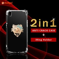 2in1 Anti Crack OPPO F3 PLUS Case Softcase + iRing Cincin Hp
