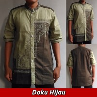 Baju Koko Pria Dewasa, Bordir Modern Terbaru RVP014 - Lengan Pendek SP