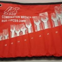 Kunci Ring Pas Set 11 Pcs 8-24 MM / Combination Wrench Set Murah