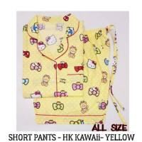Piyama Hello Kitty Dewasa - HK Kawaii Short Pants Pajamas Murah